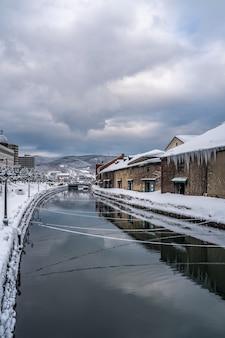 Canale otaru in inverno