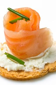 Canape con salmone