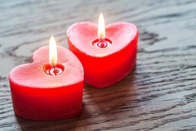 Candele accese di san valentino