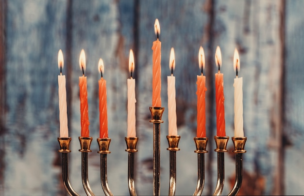 Candele hanukkah