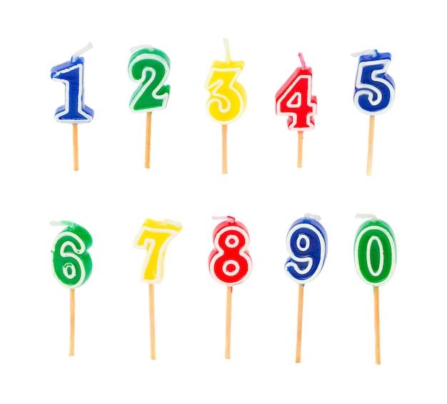 Candele multicolori di compleanno