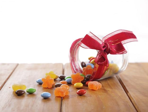 Candy con il concetto di natale