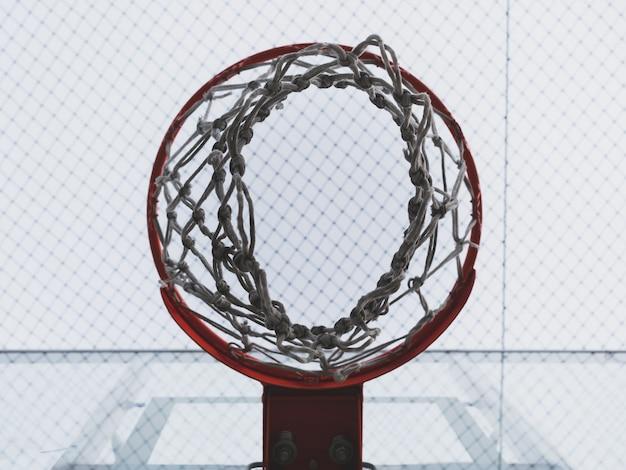 Canestro da basket e rete