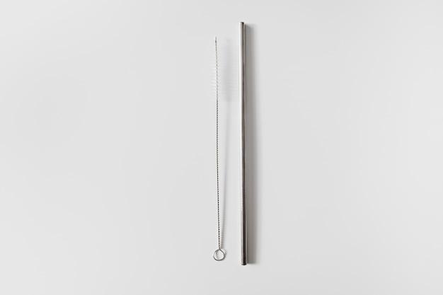 Cannucce in acciaio inossidabile e spazzola per la pulizia