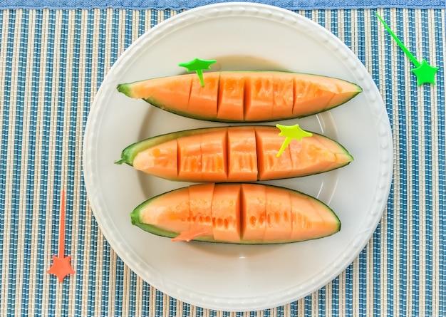 Cantaloupe frutta fresca