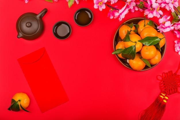 Capodanno cinese sullo sfondo