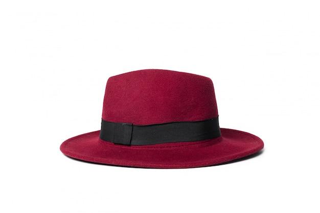 Cappello fedora isolato su bianco
