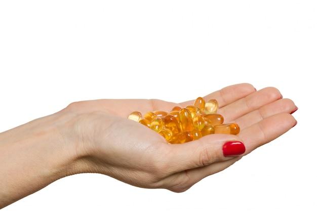 Capsula isolata della tenuta della mano di omega 3