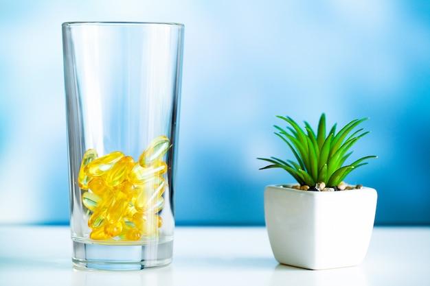 Capsule di gel morbido di olio di pesce omega 3 giallo