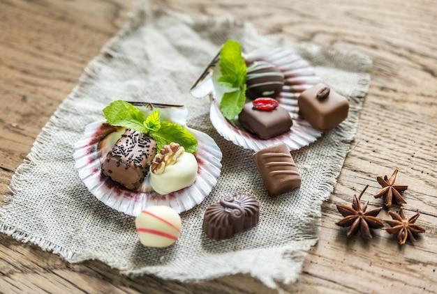 Caramelle al cioccolato di lusso