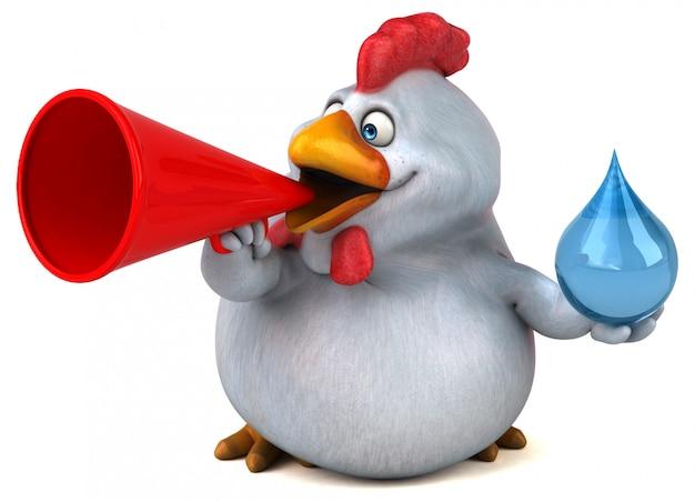 Carattere del pollo di divertimento isolato - illustrazione 3d