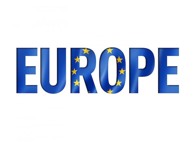 Carattere di testo bandiera dell'unione europea