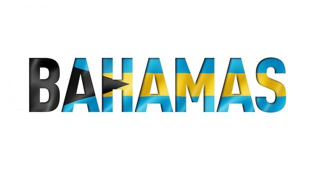 Carattere di testo bandiera delle bahamas