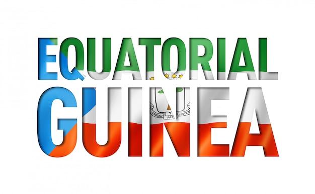 Carattere di testo bandiera guinea equatoriale