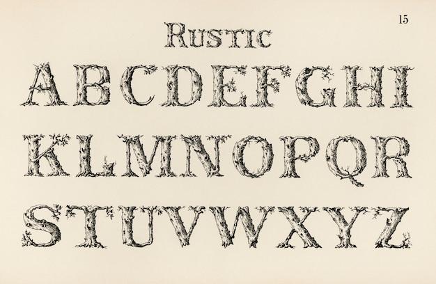 Caratteri rustici di calligrafia
