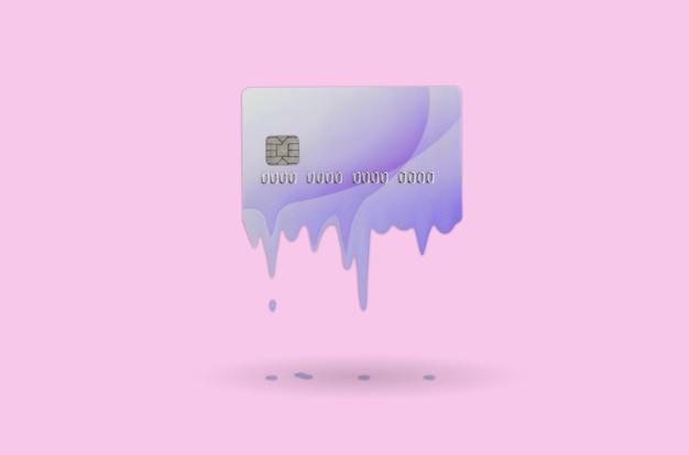Card scade presto concept. carta di credito fusa