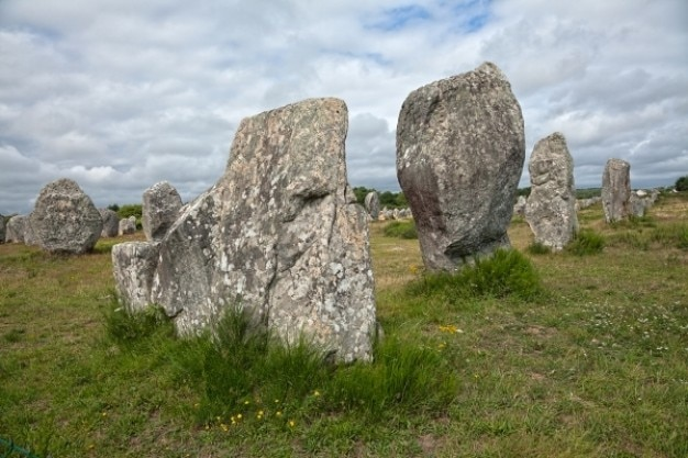 Carnac pietre hdr