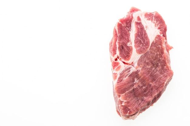 Carne di maiale cruda isolato