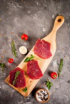 Carne di manzo non preparata cruda fresca