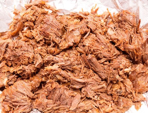 Carne di mucca bollita stile carne messicana di barbacoa