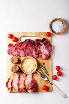 Carne suina cotta