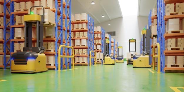 Carrelli elevatori a forcale in magazzino