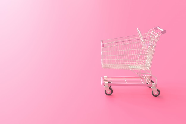 Carrello della spesa rosa