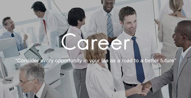 Carriera che assume concetto di occupazione del lavoro delle risorse umane