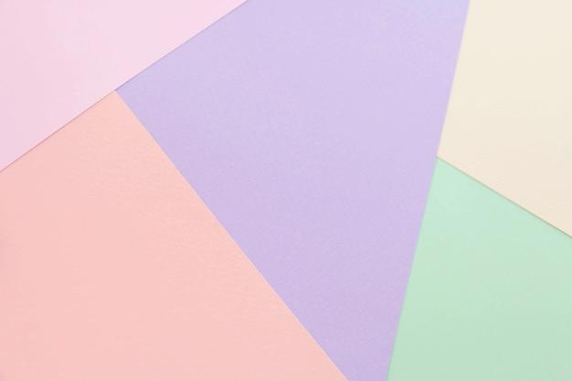 Carta a colori astratti e fondo di carta pastello colorato creativo