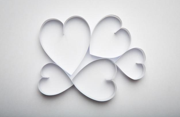 Carta cuore simbolo per san valentino con lo spazio della copia fo