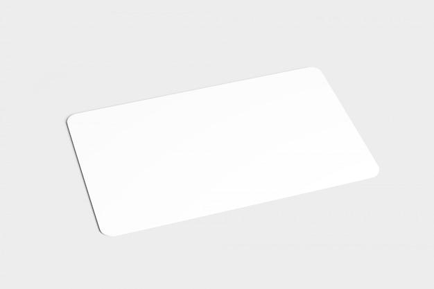 Carta d'angolo arrotondata, rendering 3d