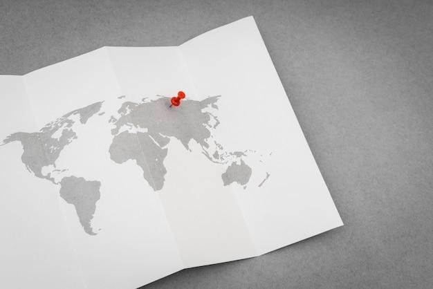 Carta da parati mappa cartacea nazione geografia