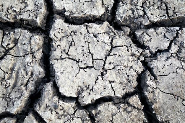 Carta da parati, motivi e trame di terra screpolata, siccità della terra