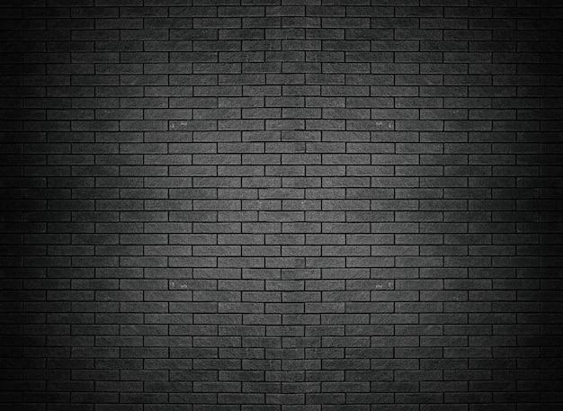 Carta da parati nera del fondo della superficie del mattone di struttura del muro di mattoni