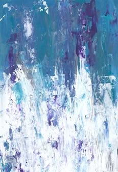 Carta da parati sgangherata di colori bianco, blu e viola.