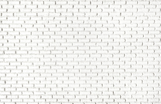 Carta da parati strutturata del muro di mattoni bianco