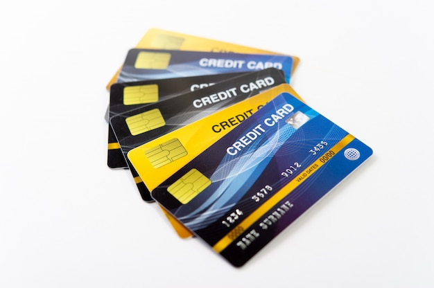 Carta di credito, bancomat carte per fare affari online