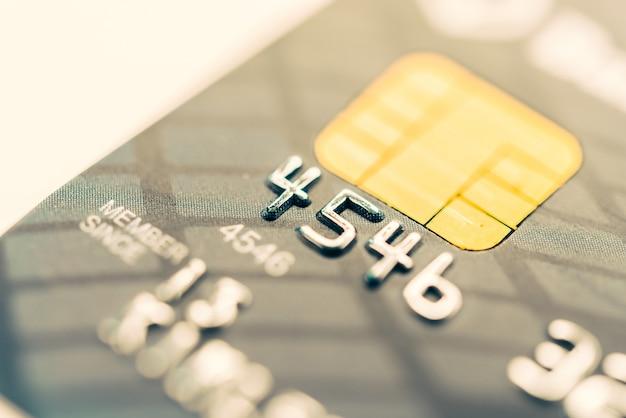 Carta di credito da vicino