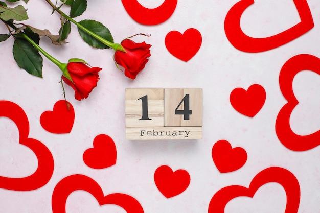 Carta di san valentino con rose