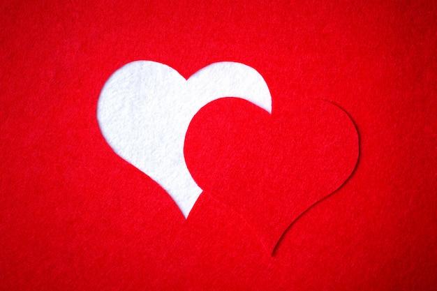 Carta di san valentino. messa a fuoco selettiva, sfondo con spazio di copia.
