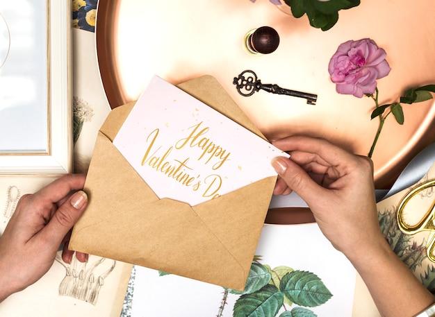 Carta di san valentino romantico