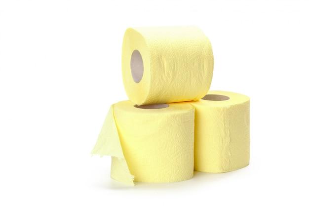 Carta igienica isolato su bianco