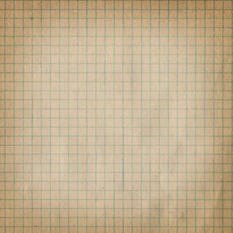 Carta millimetrata sporca d'annata.
