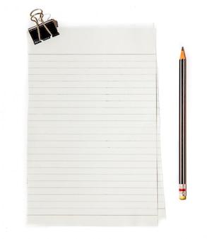 Carta per appunti nera con la matita