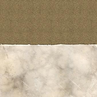 Carta strappata grunge su una trama di lino
