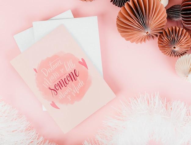 Carte rosa e romantiche di san valentino