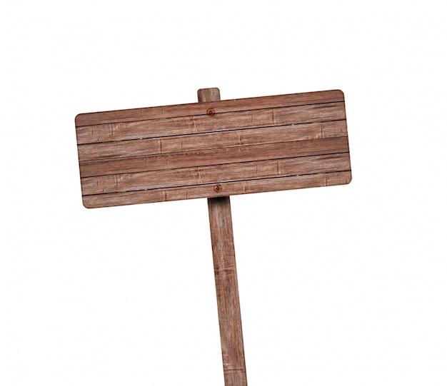 Cartello in legno isolato.