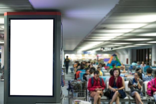 Cartelloni pubblicitari in aeroporto