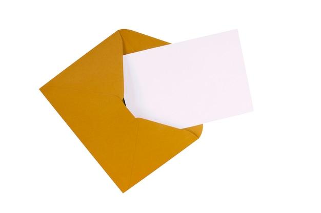 Cartolina busta marrone