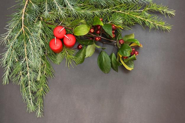 Cartolina d'auguri con decorazione festa buon natale e felice anno nuovo